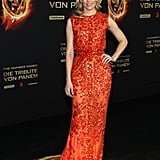 Elizabeth solidified her status as a fiery hot style-setter in this superembellished Elie Saab gown at the Berlin premiere of The Hunger Games.