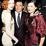At the Generation W cocktail party, Karen Elson, Andre Balazs and Tabitha Simmons made a chic trio.