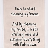 Cleaning the House Tea Towel