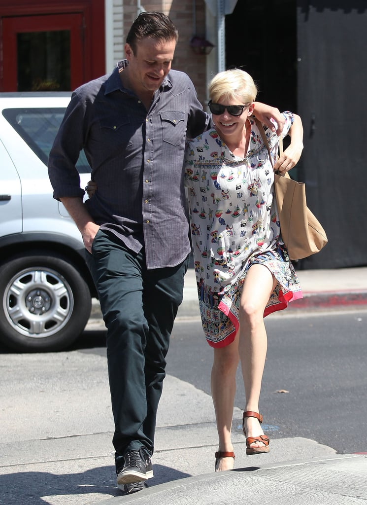 Jason Segel and Michelle Williams looked happy together.