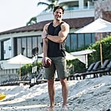 Joe Manganiello showed off his arms in Puerto Vallarta on Thursday.