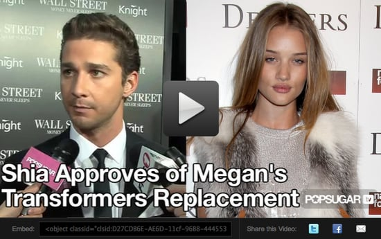 Video: Shia Approves of Megan Fox's Replacement
