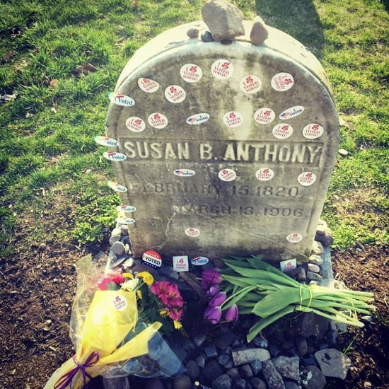 I Voted Stickers on Susan B. Anthony's Grave (Video)