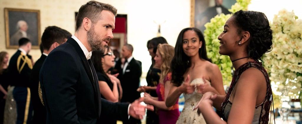 Sasha Obama Talking to Ryan Reynolds at State Dinner 2016