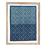 Framed Blue Textile Art