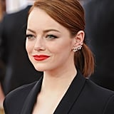 Emma Stone's diamond Repossi ear cuff was just as unexpected as the rest of her look, but the star always makes a statement with ease.