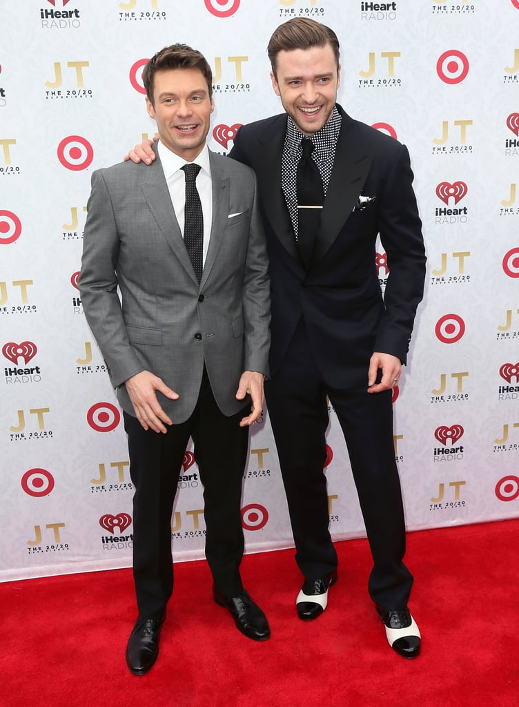 Ryan Seacrest and Justin Timberlake shared a laugh.