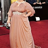 Melissa McCarthy hit the red carpet in a custom Marina Rinaldi gown.