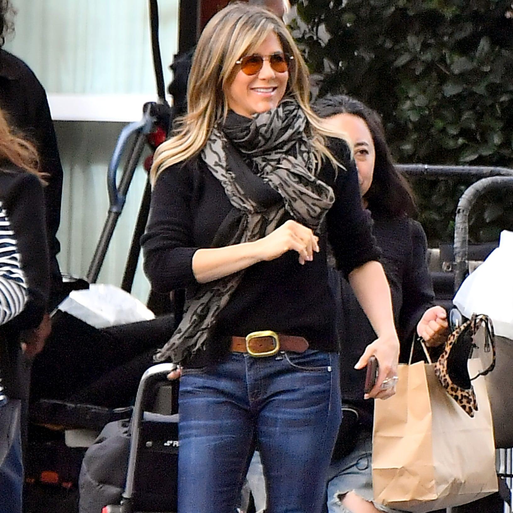 Jennifer Aniston S Aviator Sunglasses April 2019 Popsugar Fashion