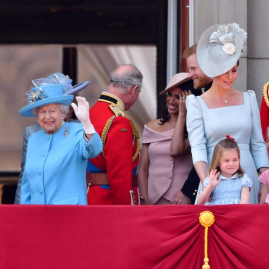 Princess Charlotte Copying Queen Elizabeth II's Wave Video