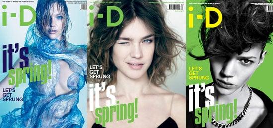 Natalia Vodianova, Freja Beha Erichsen, Sasha Pivovarova on i-D Magazine Spring Covers