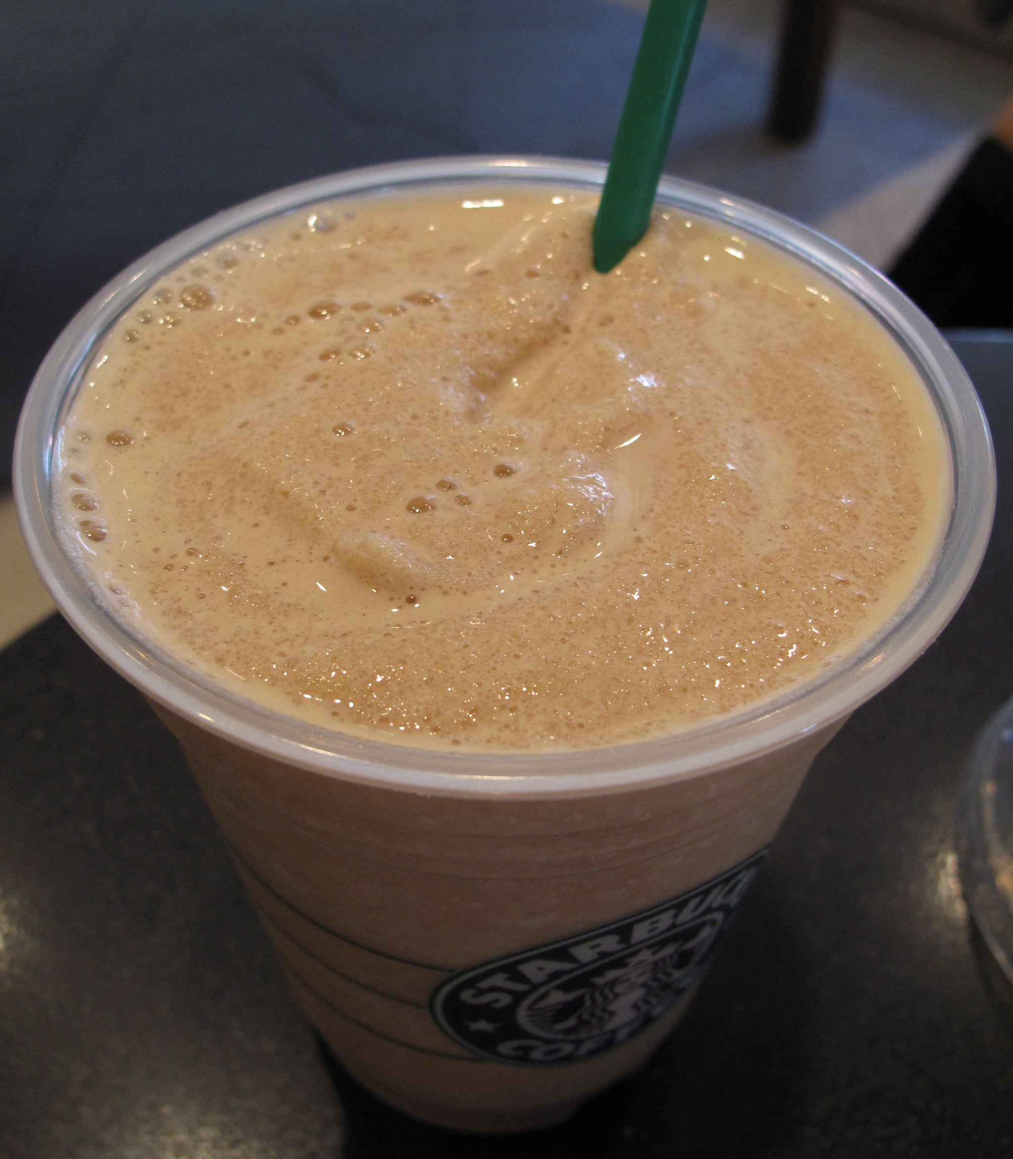 The consistency of the new Frappuccino is finer and more consistent.