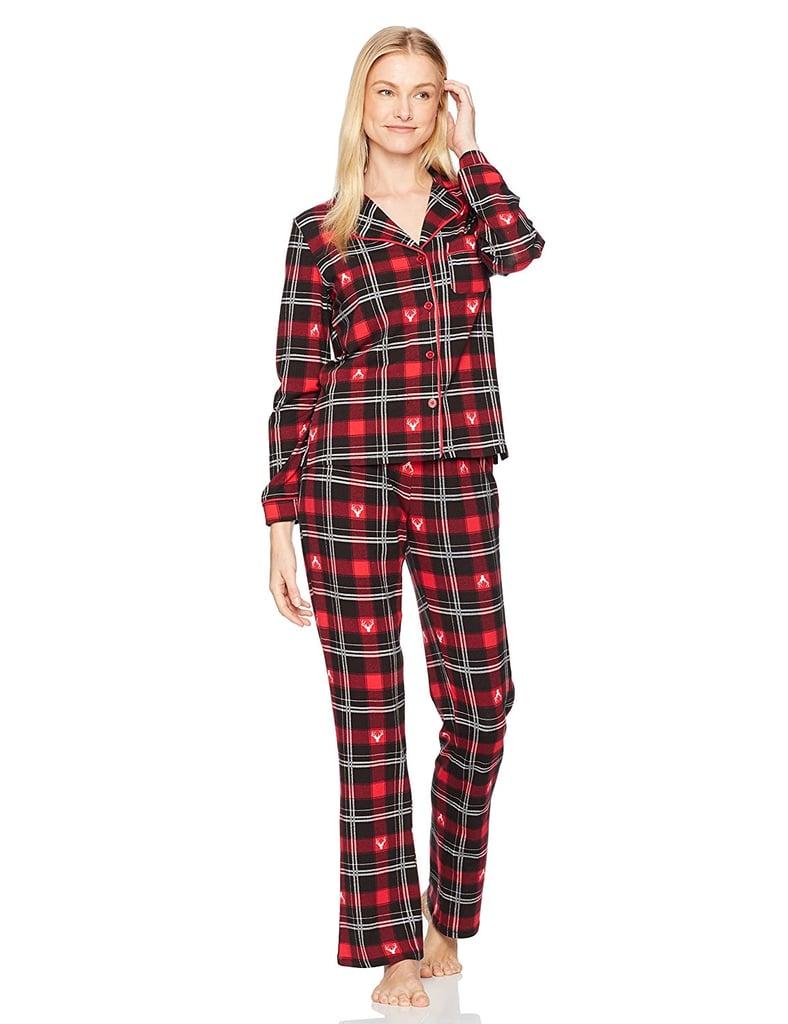 Cute Womens Christmas Pajamas.Mae Notch Collar Pajama Set Best Christmas Pajamas For