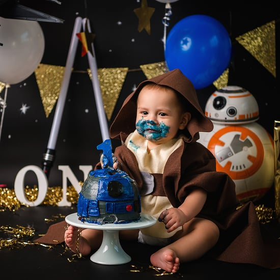 Star Wars R2-D2 Jedi First Birthday Cake Smash