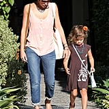 Jessica Alba and Honor Warren both looked cute and casual.