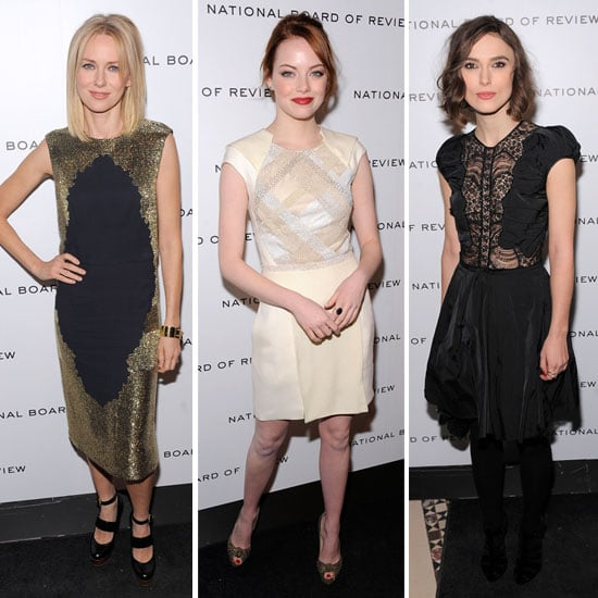 Emma Stone in J. Mendel at the National Board of Review Awards Gala