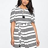 Eloquii Circle-Sleeve Fit and Flare Dress