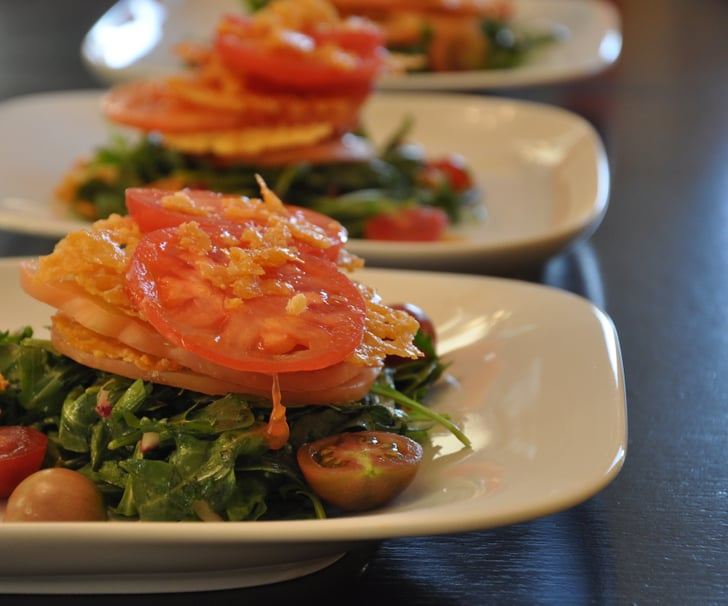 Summer of Salads: Heirloom Tomatoes with Parmesan Crisps