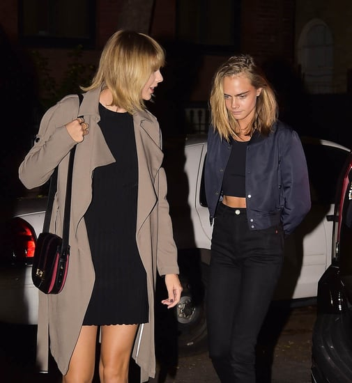 Taylor Swift has dinner in New York with Cara Delevingne, Brooke Shields, Lorde, and more as Kanye West performs in Nashville