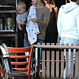Kate Hudson Carries Bingham Bellamy to Goldie's Birthday