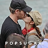 Drew Barrymore bit Will Kopelman's lip while touring Rome together in September 2011.