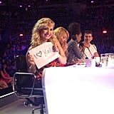 Demi Lovato sent a message to her fans while on the set of The X Factor. Source: Instagram user thexfactorusa