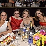 Girls stars Lena Dunham, Zosia Mamet, and Allison Williams shared a table with Julia Louis-Dreyfus.