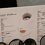 The makeup chart backstage at Rachel Roy shows a smoky, earthy eye, along with a natural-toned lip look. Photo: Megan Holmes