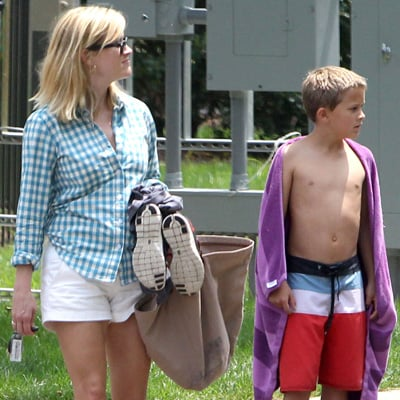 Reese Witherspoon With Son Deacon in Nashville