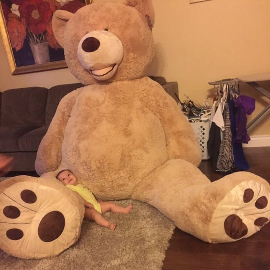 Grandpa Buys Baby a Giant Teddy Bear