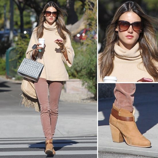 Alessandra Ambrosio Wearing Pink Jeans | Jan. 21, 2013