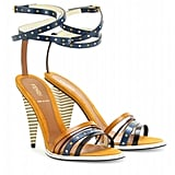 Fendi Color-Blocked Strappy Leather Sandals ($695)