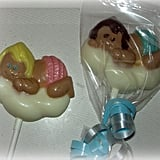 Babies Are From Heaven Chocolate Lollipops