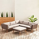 Bari Chateau Latte Sectional and Ottoman Patio Collection