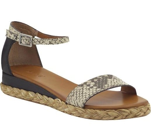 The rope-detailed sole and snakeskin-printed straps make these flat sandals infinitely cooler. Nicole Ponder Espadrille Flat ($59)