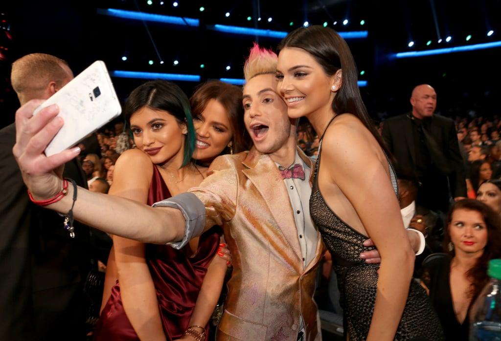 Kylie Jenner, Khloé Kardashian, Frankie J. Grande, and Kendall Jenner