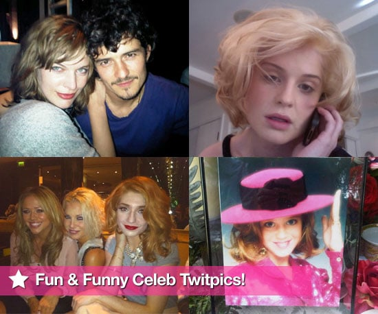 Pictures From Celeb Twitter Accounts Including Orlando Bloom, Kelly Osbourne, Milla Jovovich, Katy Perry, Girls Aloud and More