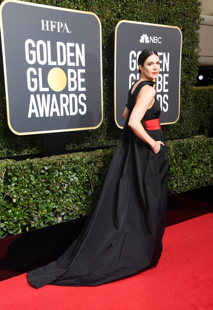 Mandy Moore's Globes Gown Comes With Pockets, and Obviously We're in Love