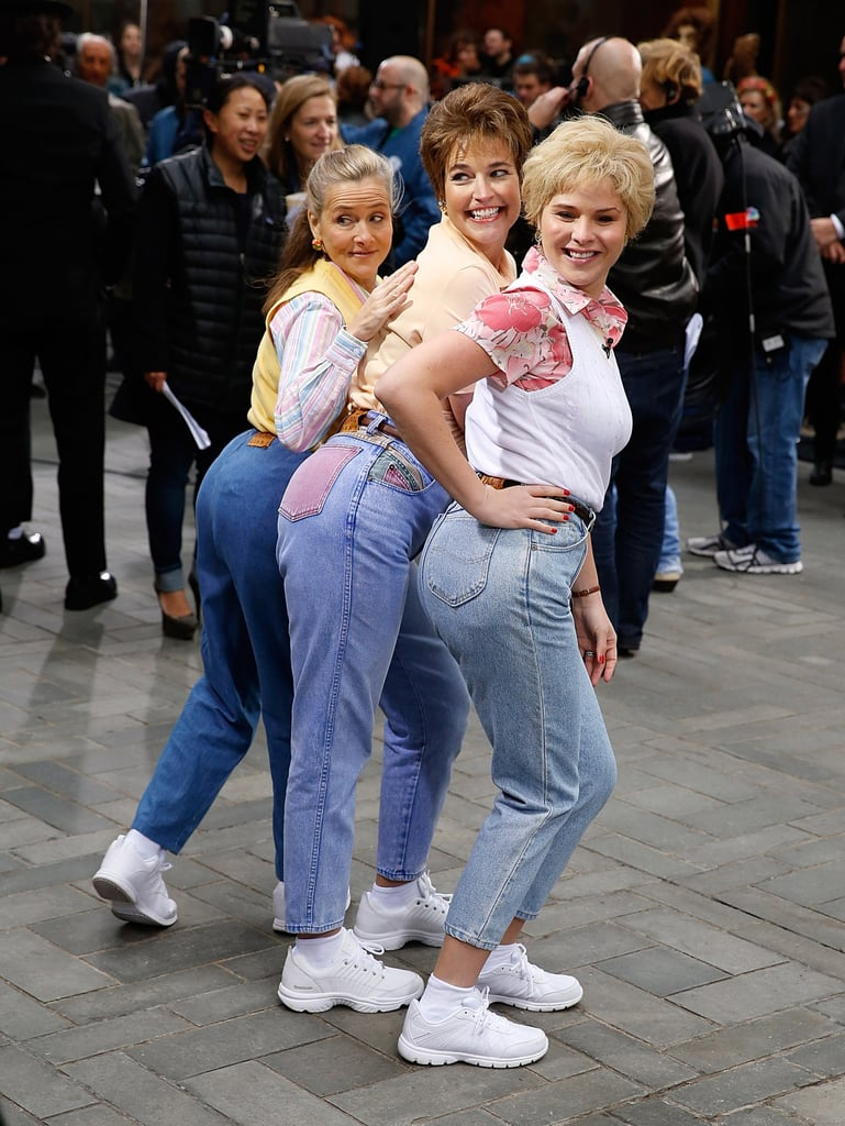"In 2014, Jenna Bush Hager, Savannah Guthrie, and Meredith Vieira took part in Today's Saturday Night Live-themed group costume inspired by the ""Mom Jeans"" skit."
