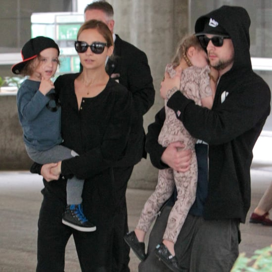 Nicole Richie and Her Kids Walking Through LAX Pictures