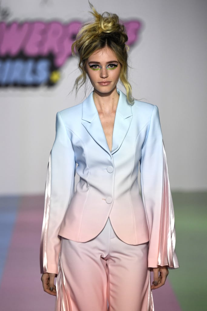 Photos of Kacey's Suit on the Runway