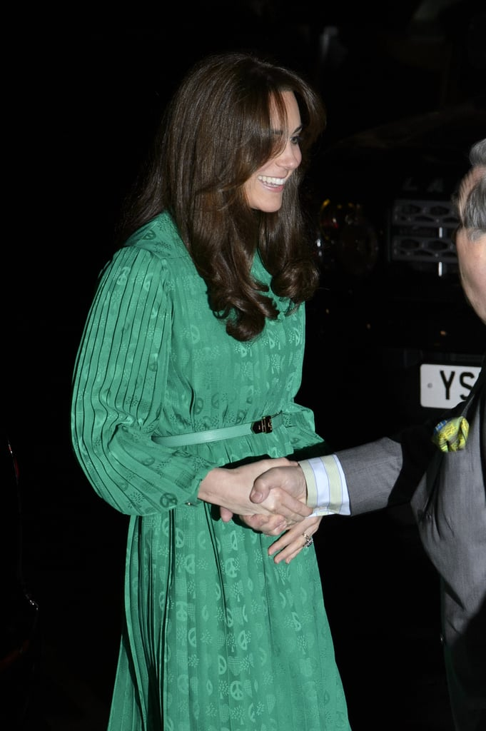 Kate Middleton greeted attendees at the Natural History Museum's event in London.