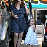 Jennifer Garner and Seraphina Affleck shopped for food in LA Sunday.