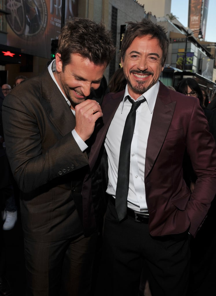 Bradley Cooper had the support of pal Robert Downey Jr. at the 2011 premiere of The Hangover Part II in LA.