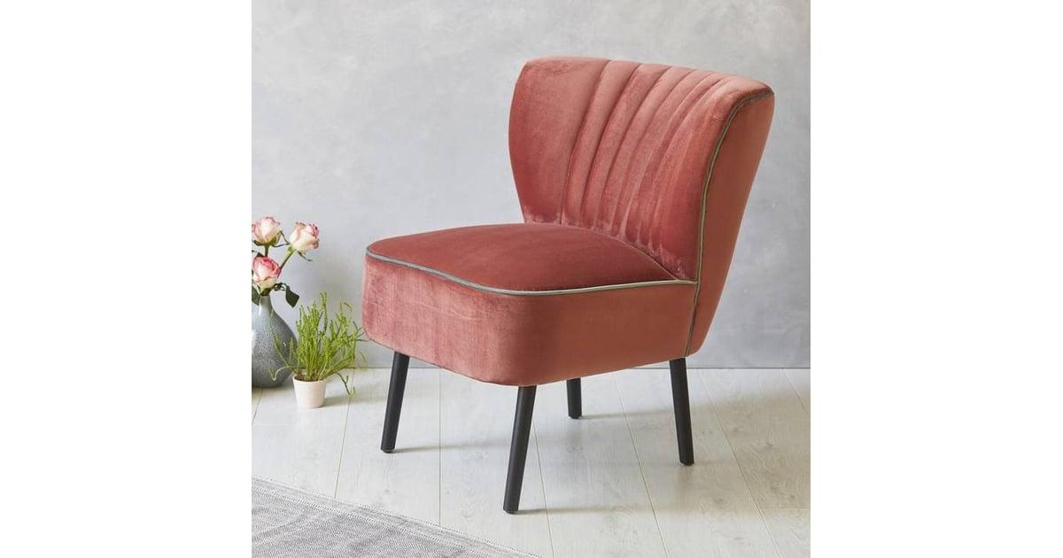 Blush Pink Accent Chairs.Fern Grey Blush Pink Velvet Mid Century Cocktail Chair Pink