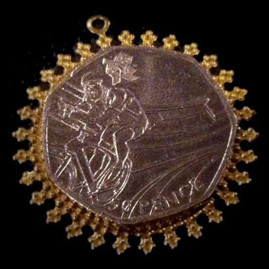 London 2012 Olympic Cycling Coin Pendant