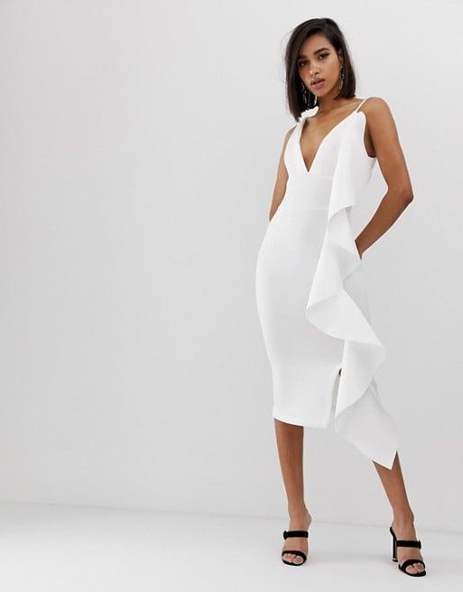 Lavish Alice Scuba v Midi Dress