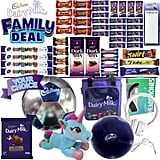 Cadbury Bumper Family Deal Showbag ($20) Includes:  16 Bite Size Dairy Milk  4 Curly Wurlys  Choice of one of six novelty items