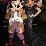 Penelope Cruz dressed up with Mickey for the May 2011 premiere of Pirates of the Caribbean: On Stranger Tides.