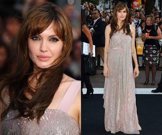 Photos of Angelina Jolie at the UK Salt Premiere in Amanda Wakeley